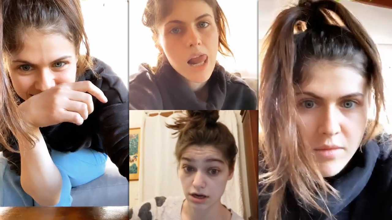 Alexandra Daddario's Instagram Live Stream from March 25th 2020.