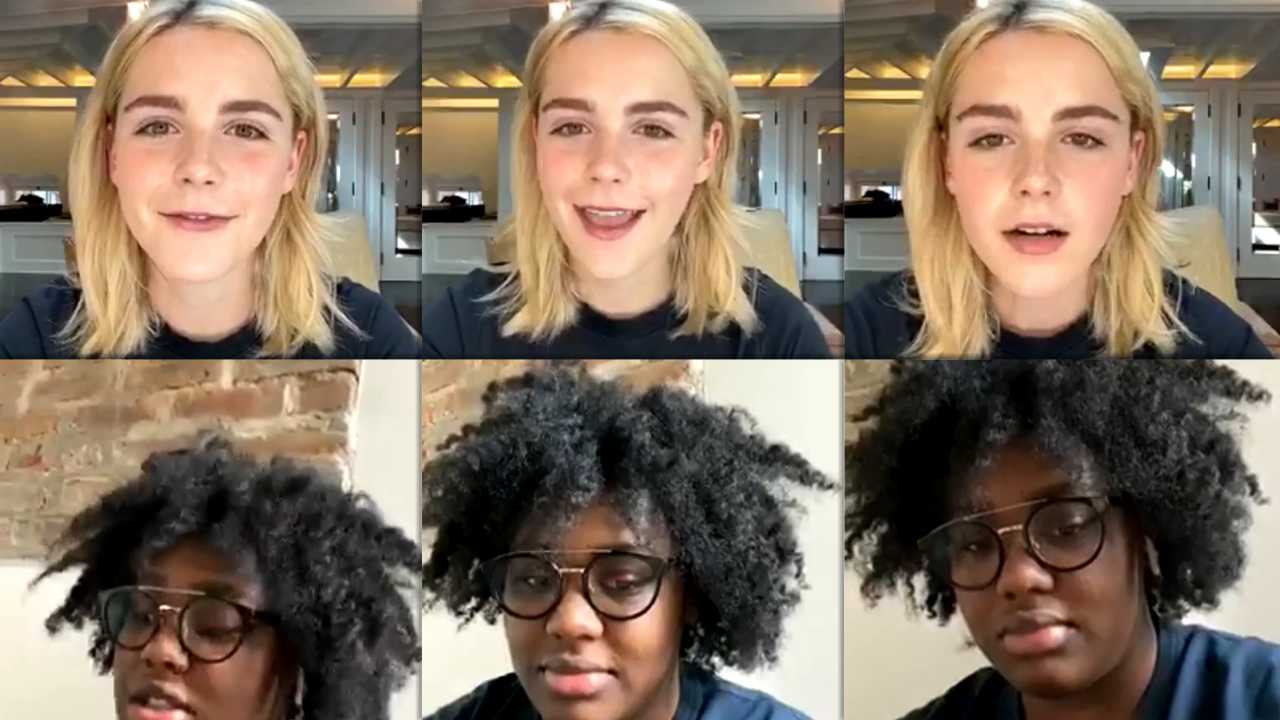 Kiernan Shipka's Instagram Live Stream from March 24th 2020.