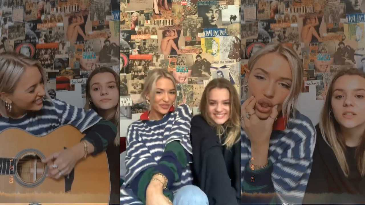 Lennon Stella's Instagram Live Stream with her Sister Maisy Stella from March 22th 2020.