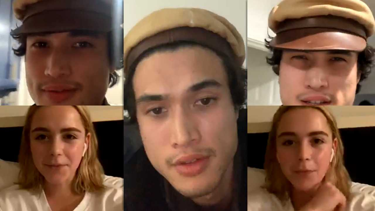 Charles Melton's Instagram Live Stream with Kiernan Shipka from March 17th 2020.