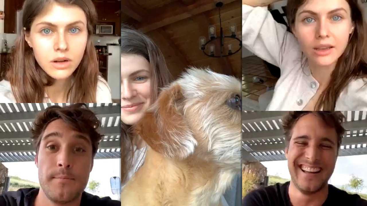Alexandra Daddario's Instagram Live Stream with Diego Boneta from April 5th 2020.