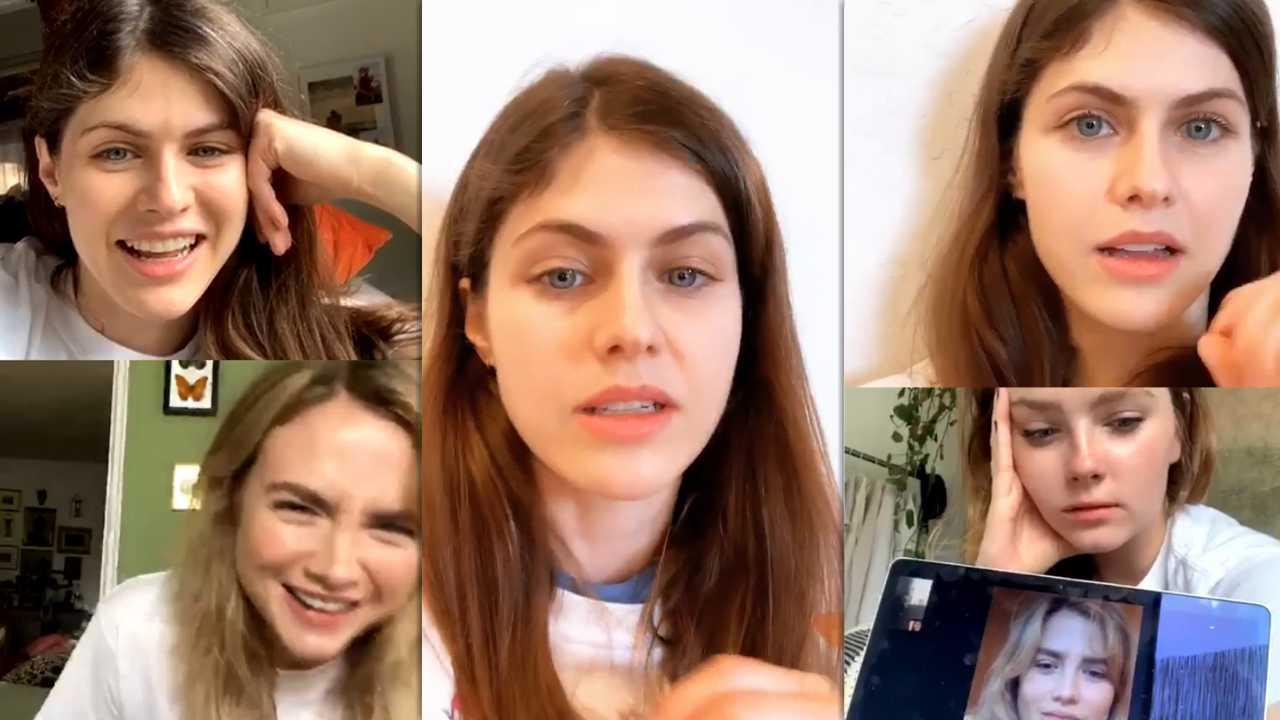 Alexandra Daddario's Instagram Live Stream from April 10th 2020.