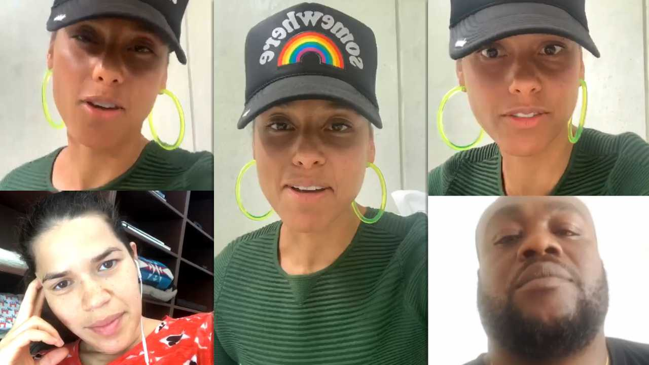 Alicia Keys' Instagram Live Stream with her fans from March 31th 2020.