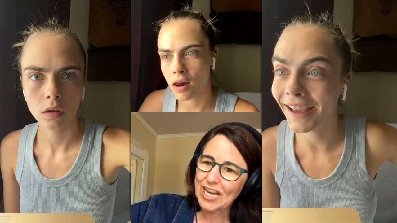 Cara Delevingne Instagram Live Stream 30 April 2020 Ig Live S Tv