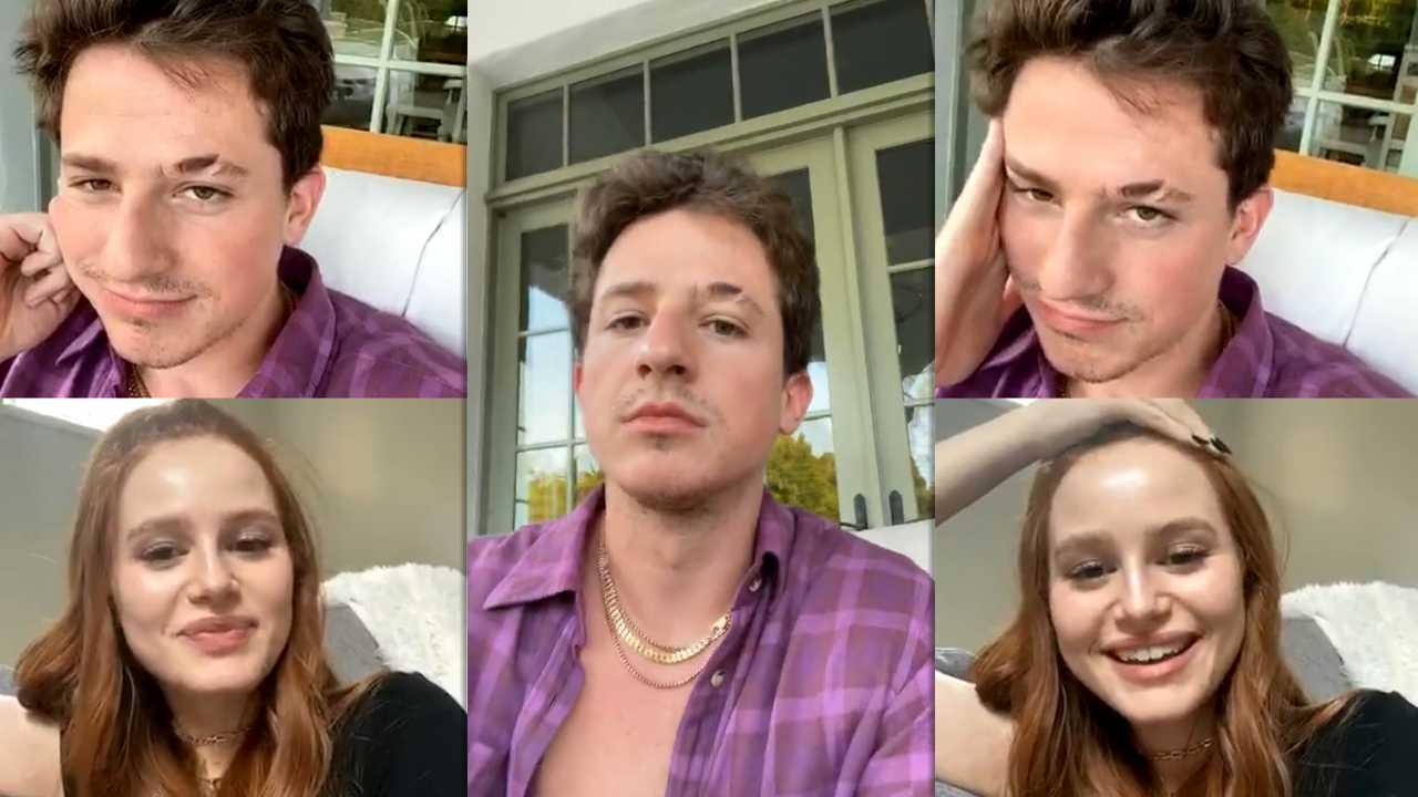 Charlie Puth's Instagram Live Stream with Madelaine Petsch from April 14th 2020.