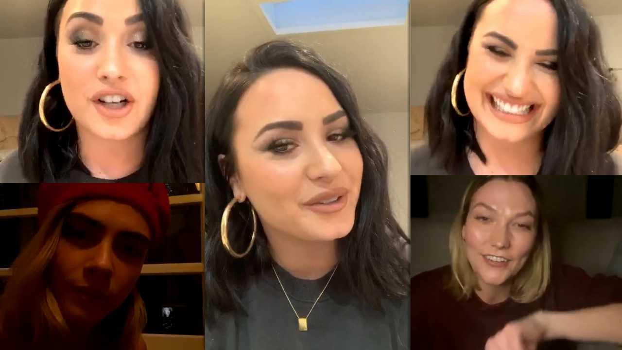 Demi Lovato Instagram Live Stream 7 April 2020 Ig Live S Tv