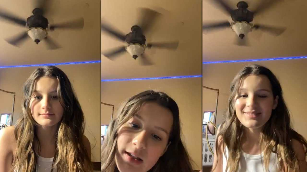 Hayley LeBlanc's Instagram Live Stream from April 10th 2020.