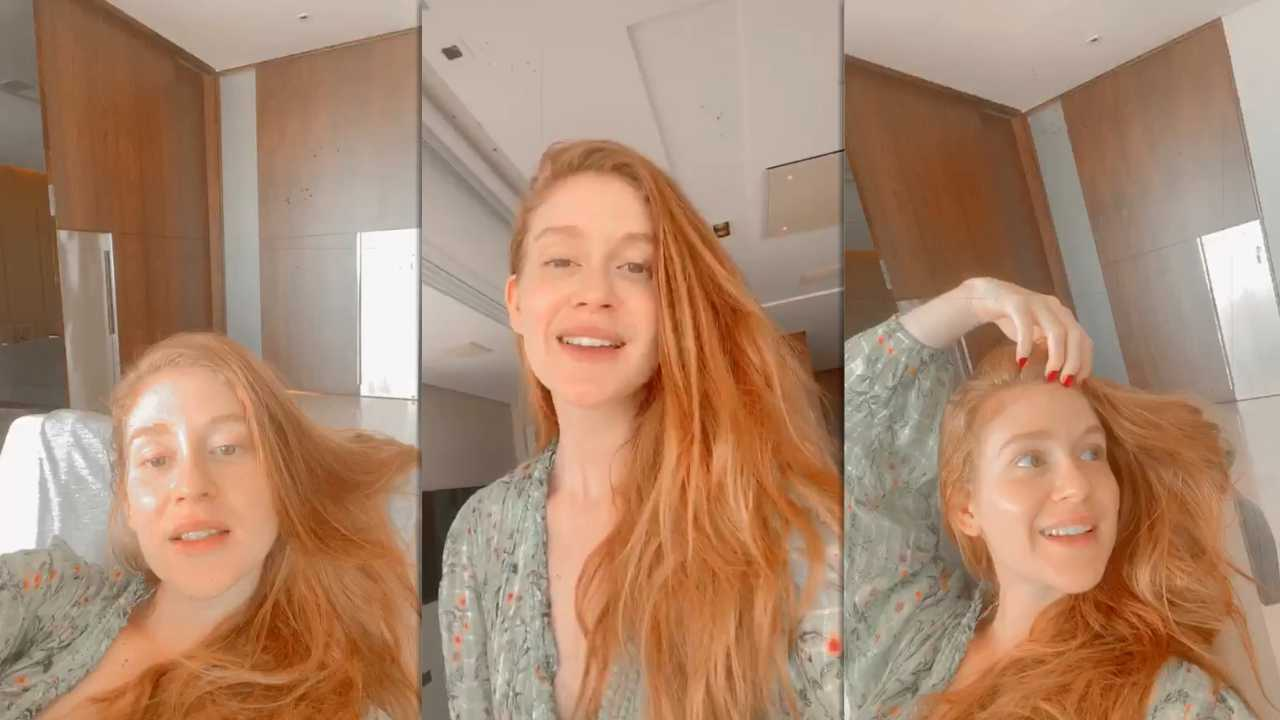 Marina Ruy Barbosa's Instagram Live Stream from April 5th 2020.