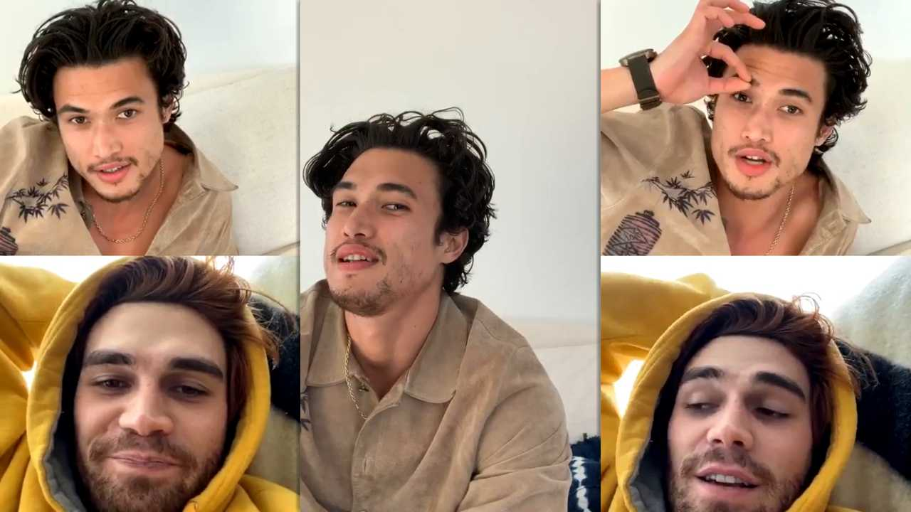 Charles Melton's Instagram Live Stream with KJ Apa from April 3rd 2020.