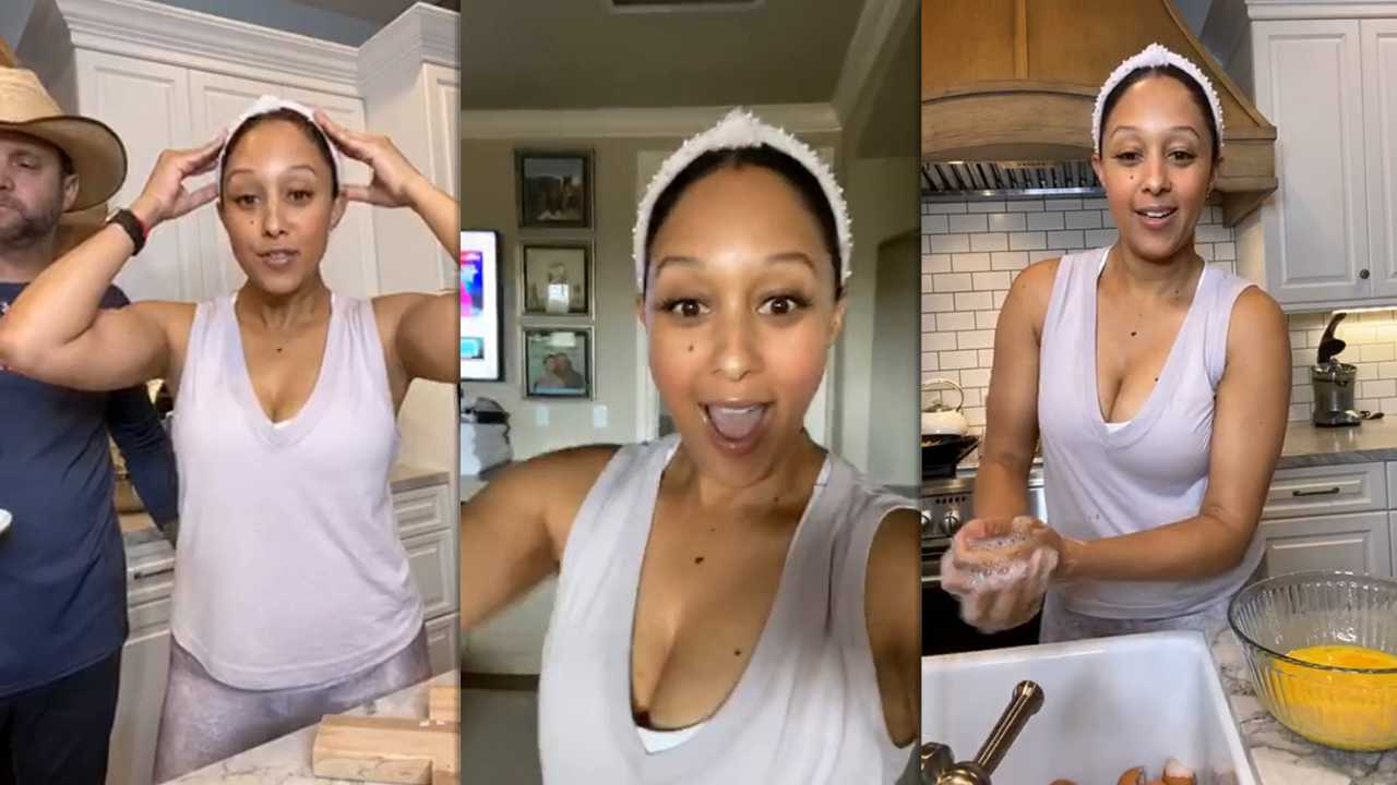 Tamera Mowry's Instagram Live Stream from April 17th 2020.