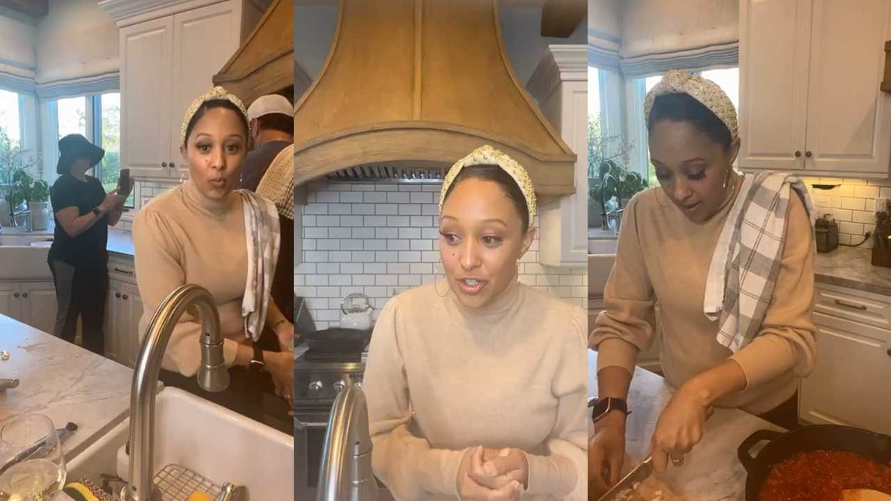 Tamera Mowry's Instagram Live Stream from April 21th 2020.
