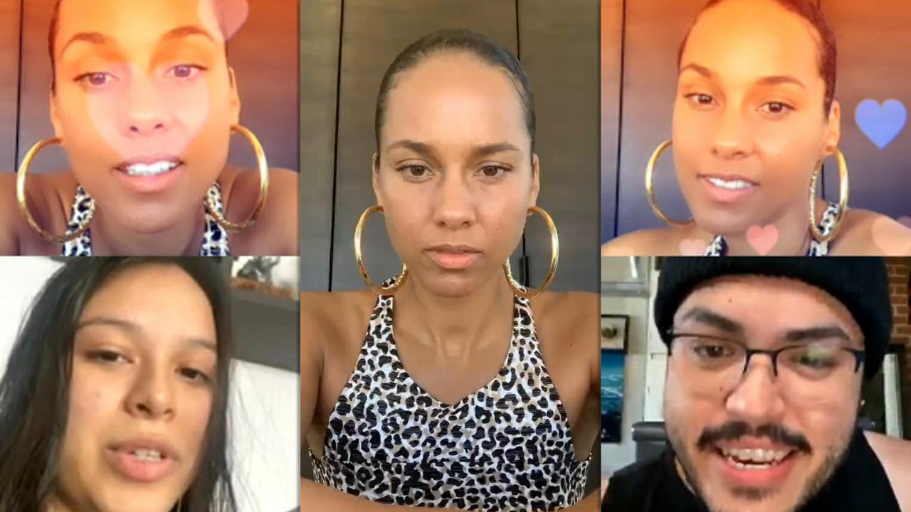 Alicia Keys' Instagram Live Stream with her fans from May 22th 2020.