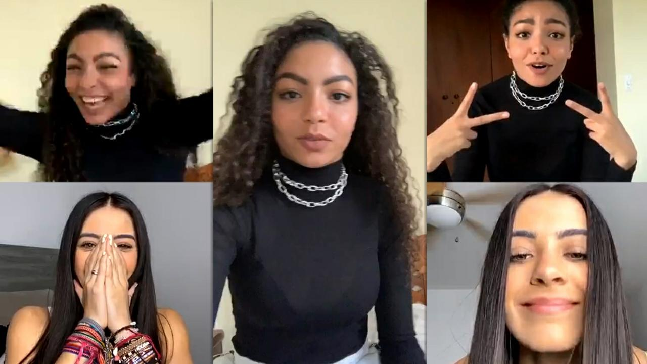 Any Gabrielly's Instagram Live Stream with Sabina Hidalgo from May 22th 2020.