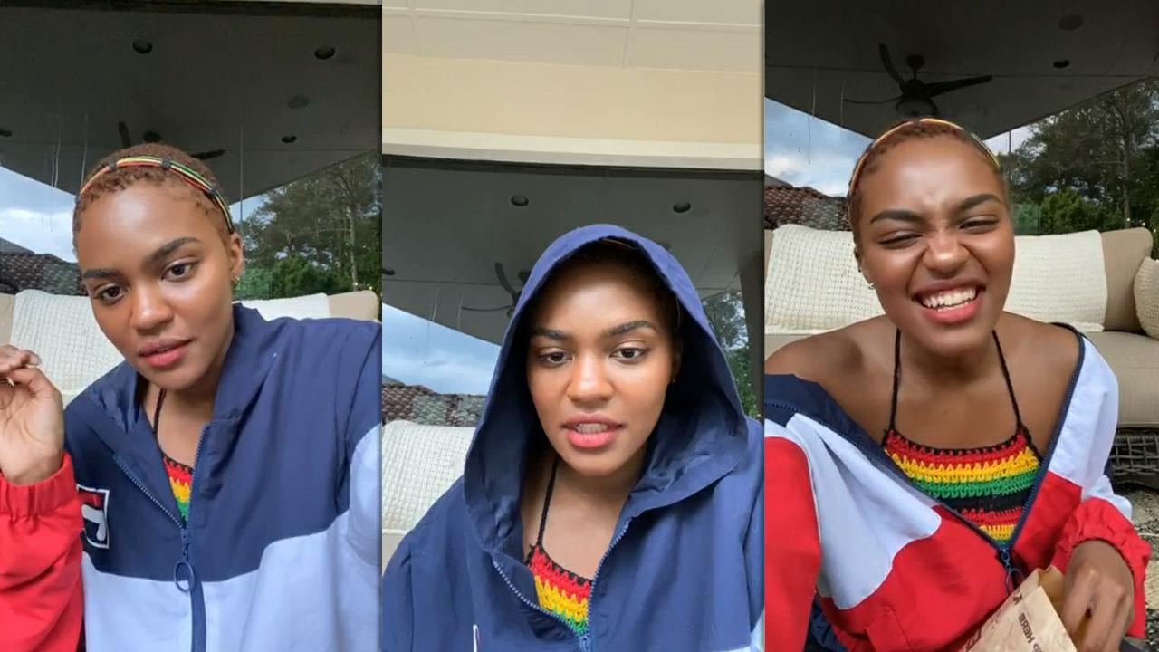 China Anne McClain's Instagram Live Stream from May 21th 2020.