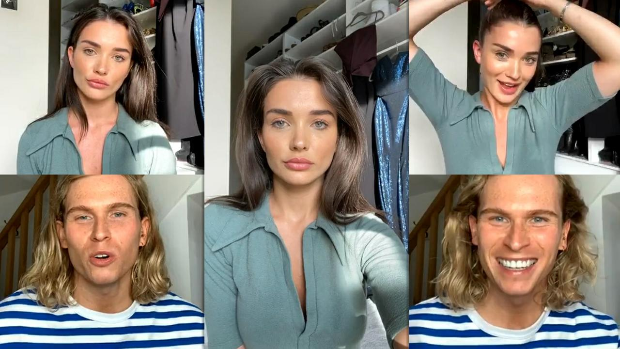 Amy Jackson's Instagram Live Stream from May 21th 2020.