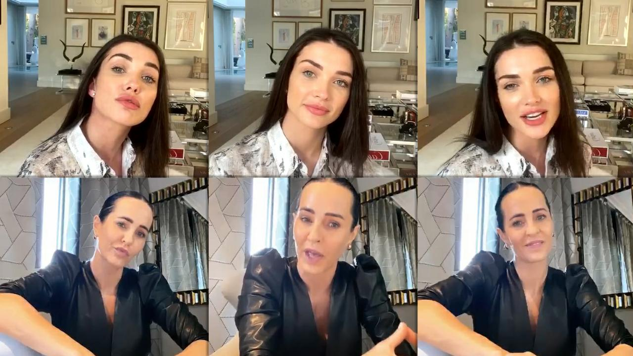 Amy Jackson's Instagram Live Stream from May 8th 2020.