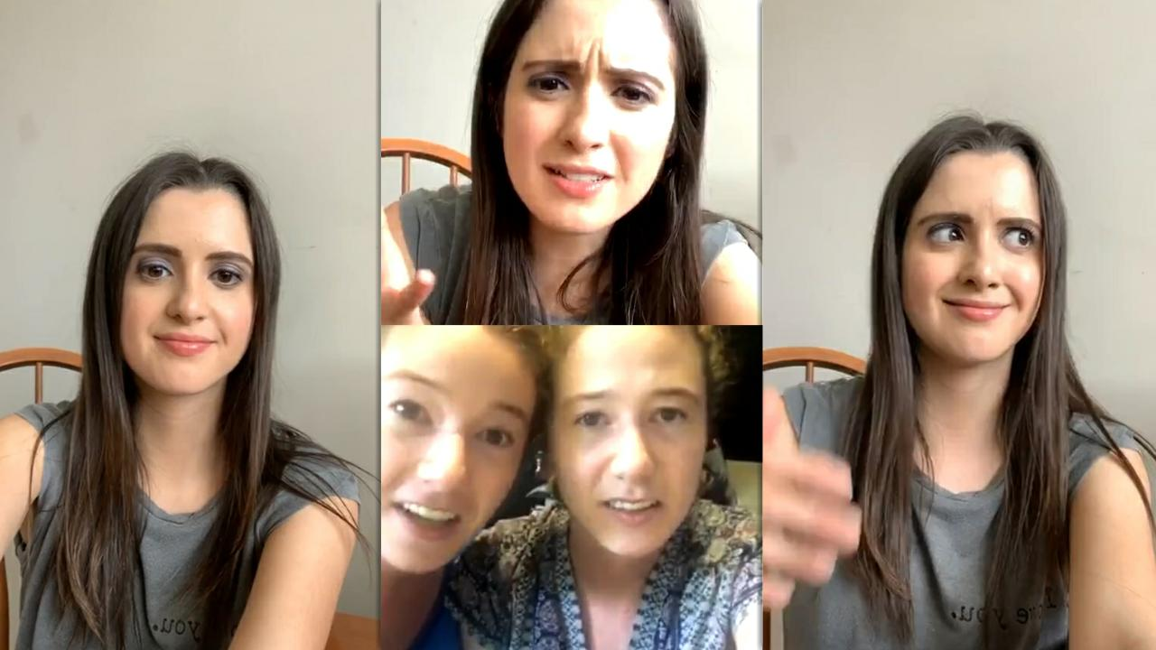 Laura Marano's Instagram Live Stream from May 22th 2020.