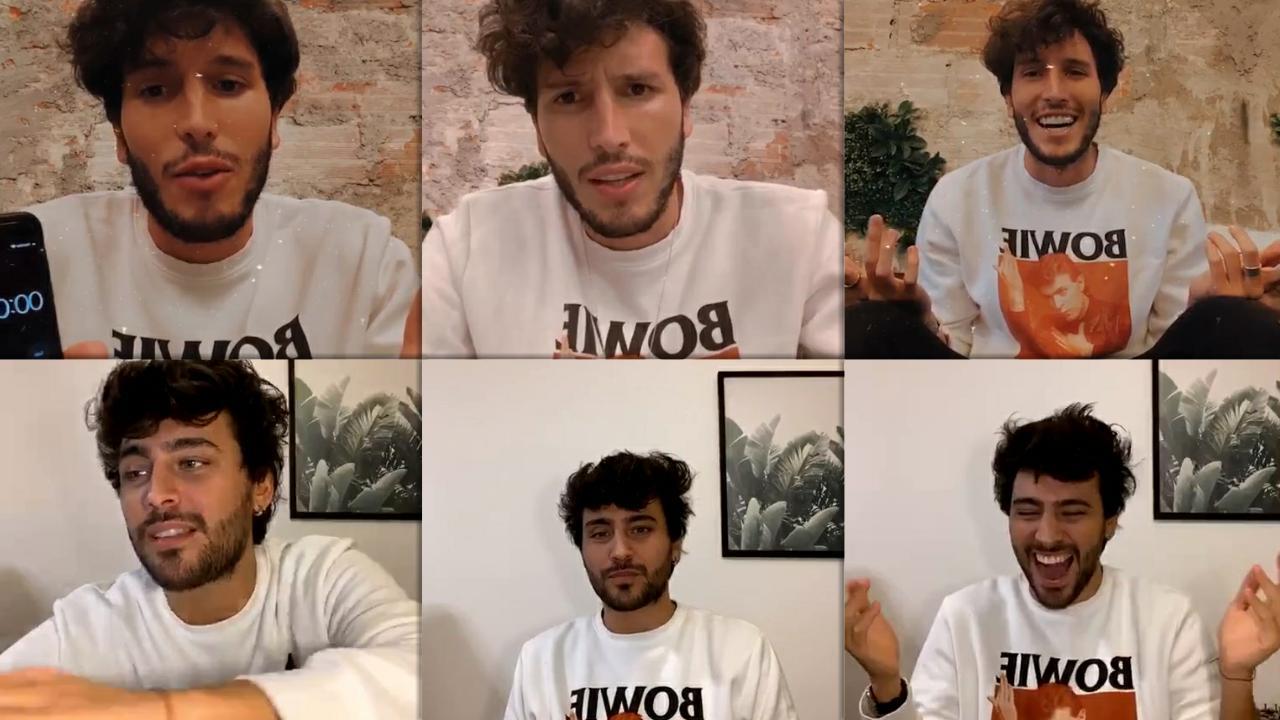 Sebastián Yatra's Instagram Live Stream with Lizardo Ponce from May 12th 2020.