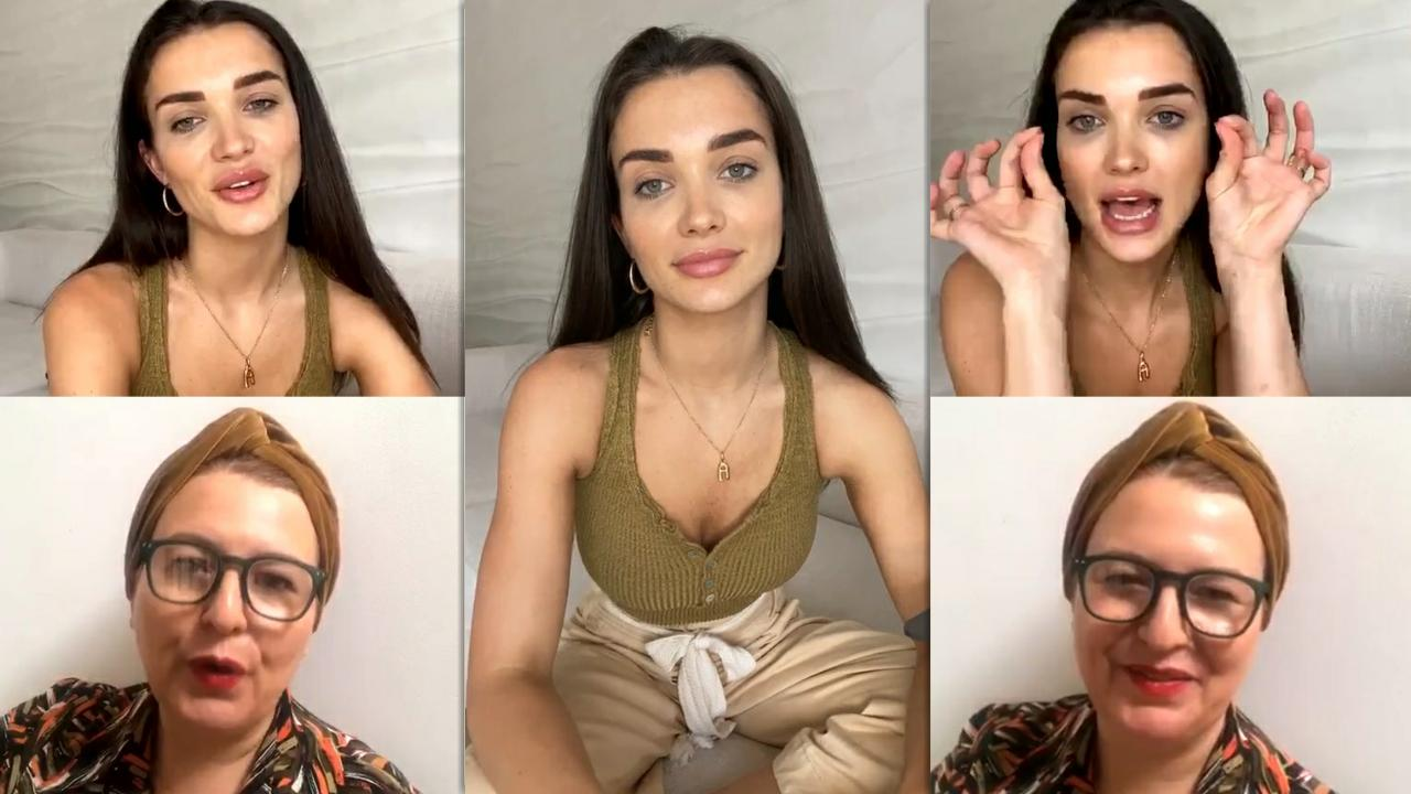 Amy Jackson's Instagram Live Stream from June 12th 2020.