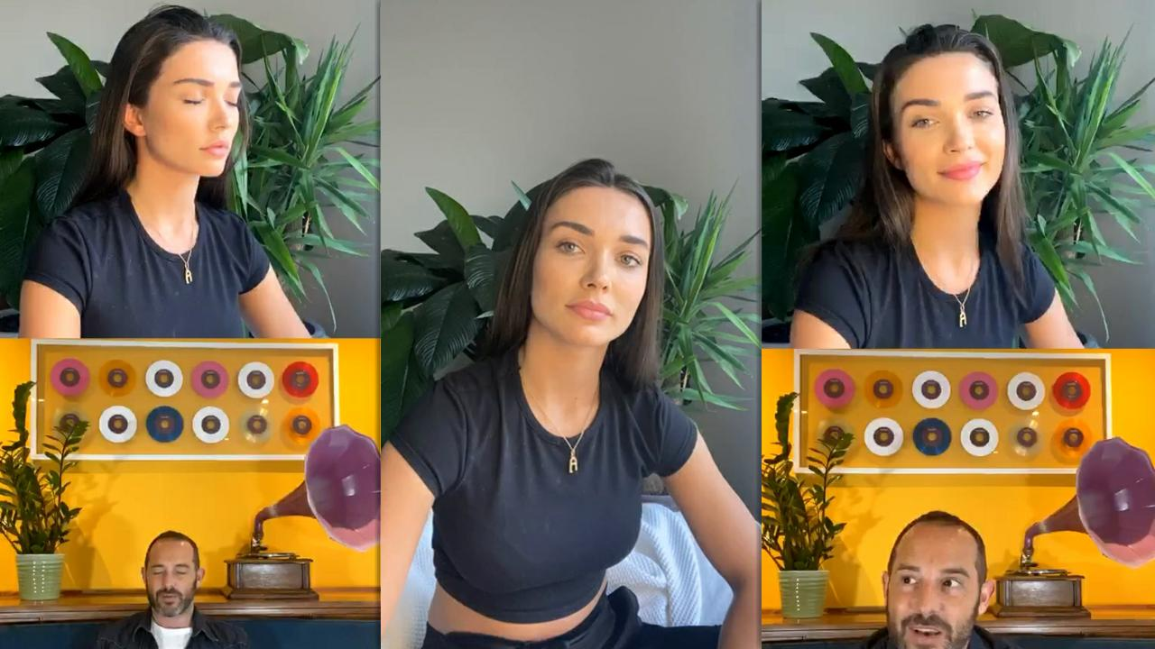 Amy Jackson's Instagram Live Stream from June 4th 2020.