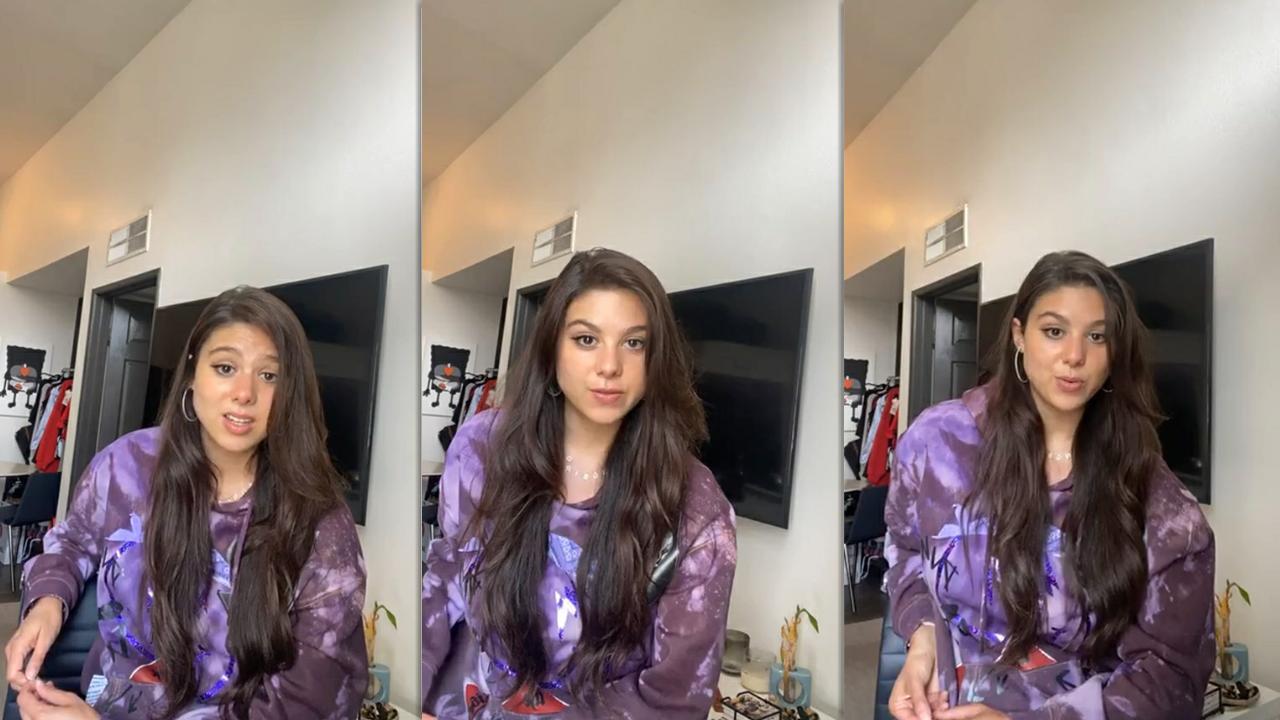 Kira Kosarin's Instagram Live Stream from June 1st 2020.