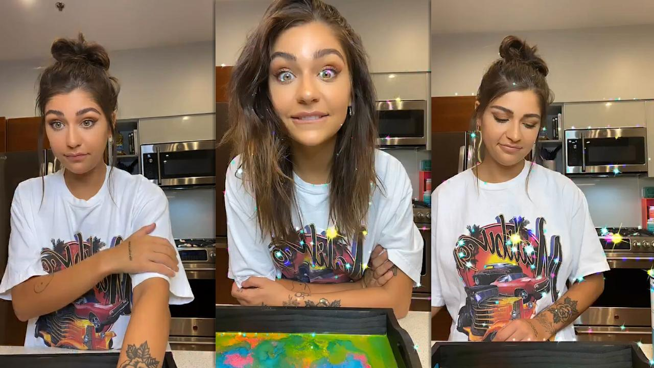 Andrea Russett's Instagram Live Stream from July 18th 2020.