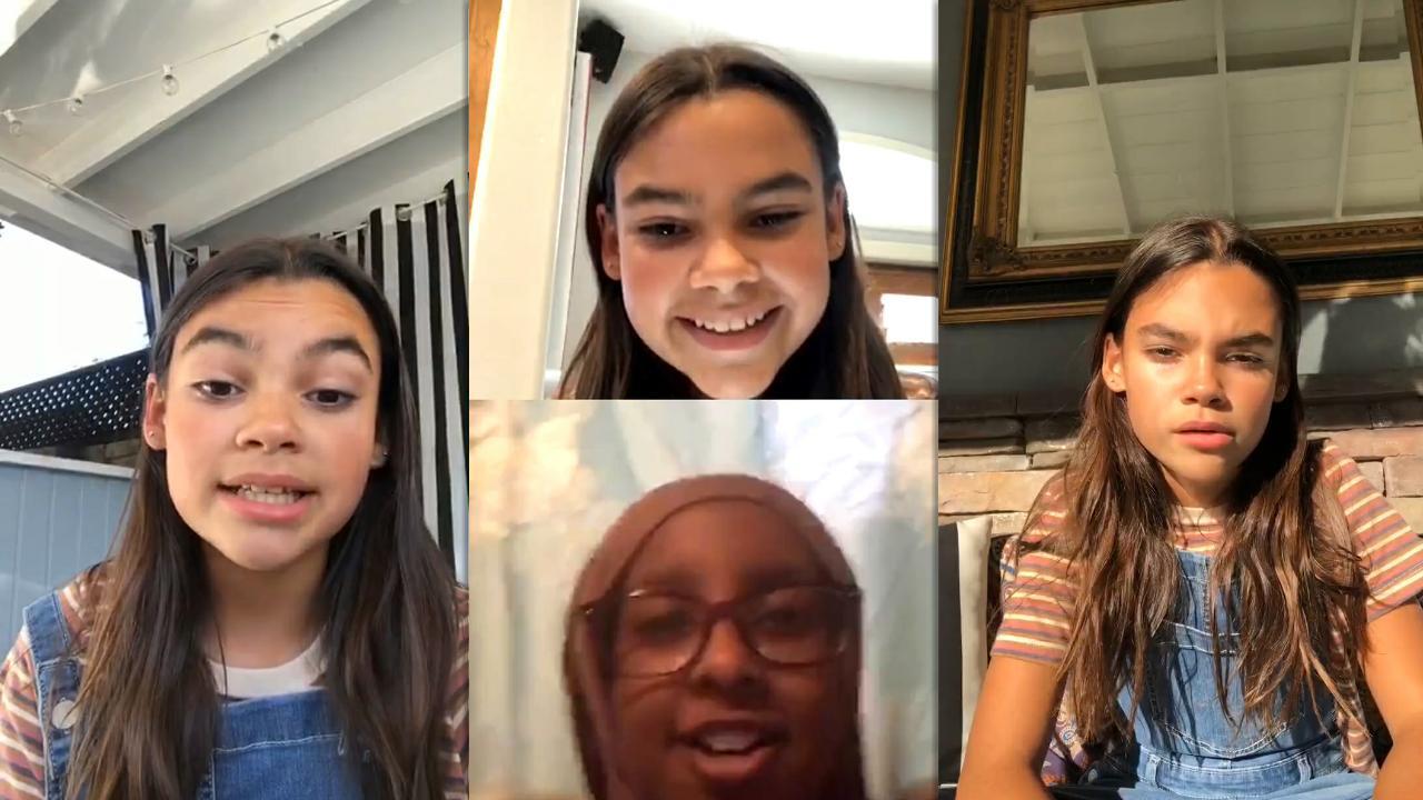 Ariana Greenblatt's Instagram Live Stream from July 30th 2020.