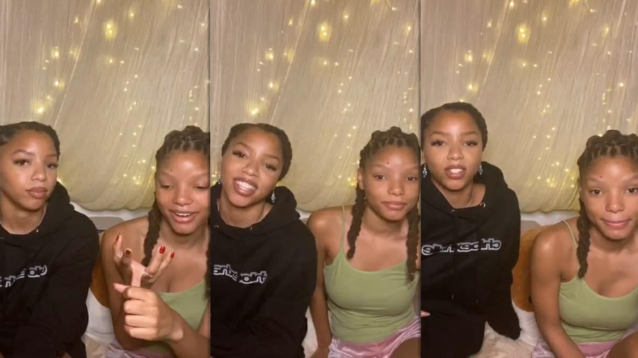 Chloe x Halle's Instagram Live Stream from July 16th 2020.