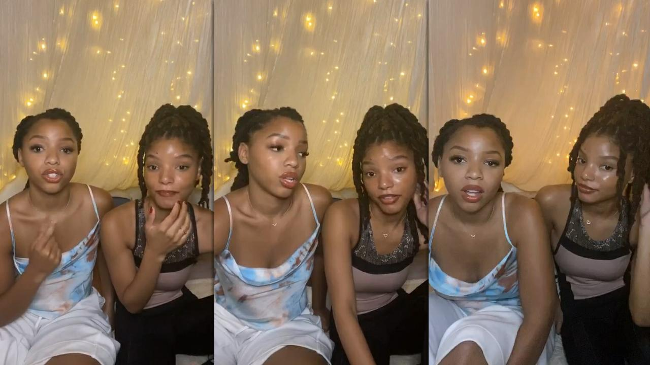 Chloe x Halle's Instagram Live Stream from July 9th 2020.