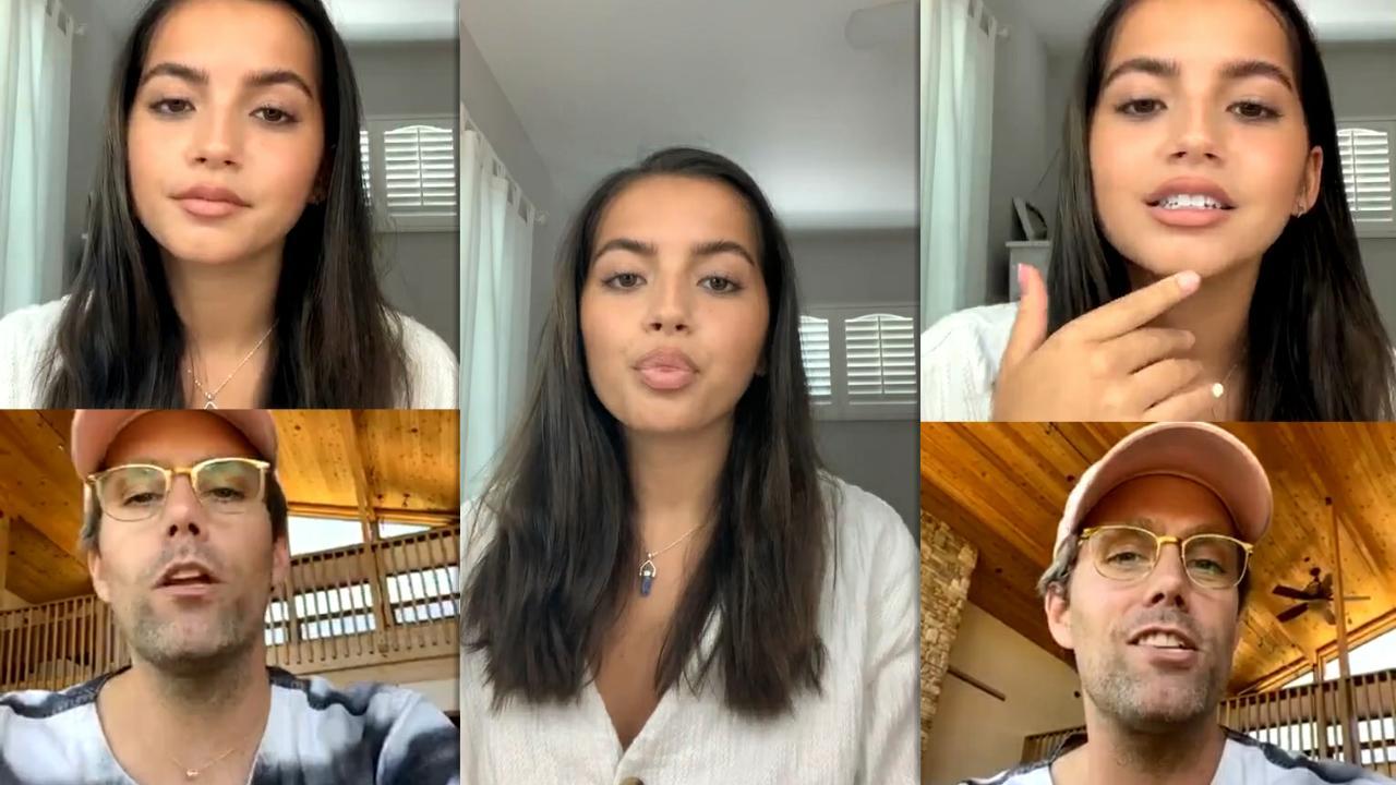 Isabela Merced (Moner)'s Instagram Live Stream from July 8th 2020.