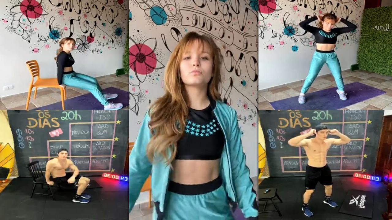 Larissa Manoela's Instagram Live Stream from July 30th 2020.