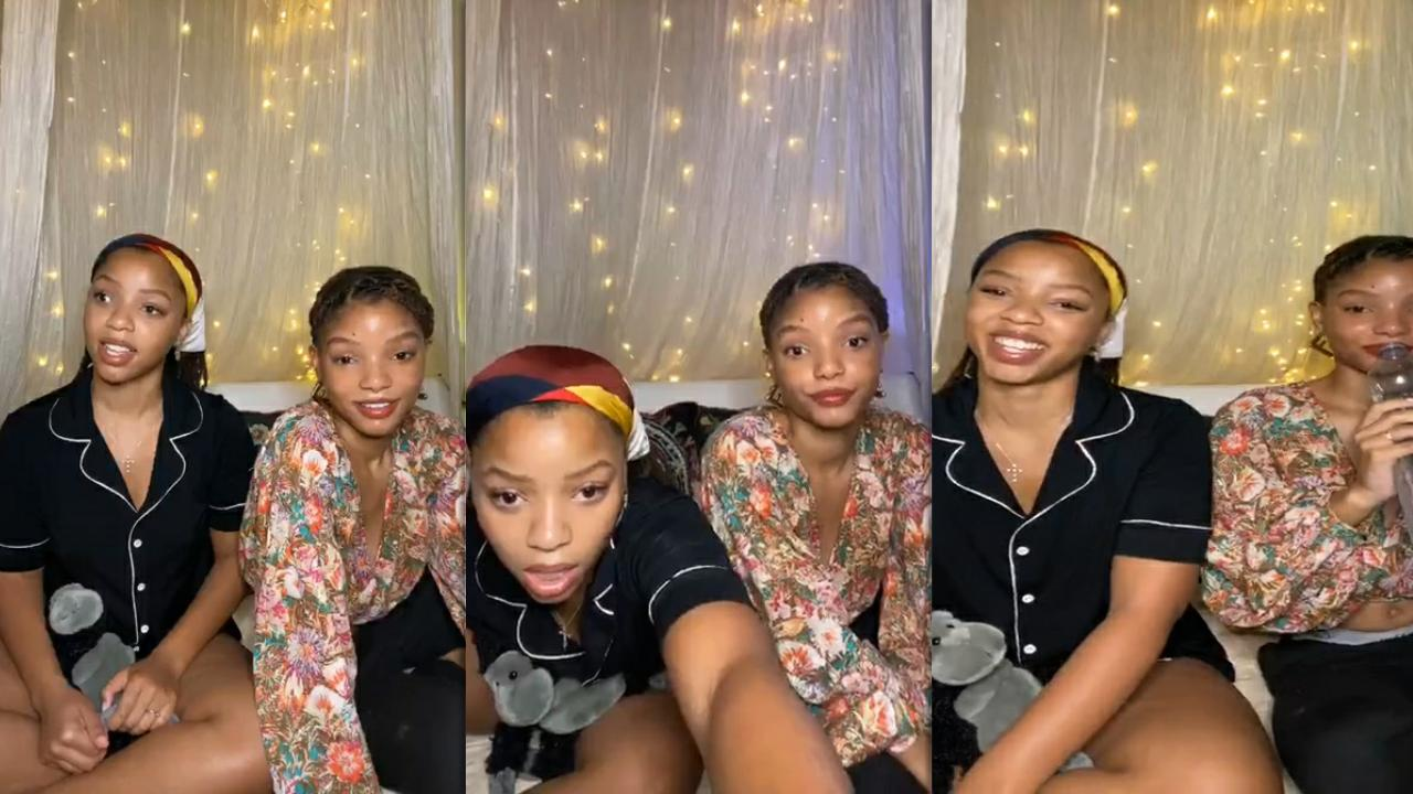 Chloe x Halle's Instagram Live Stream from July 30th 2020.