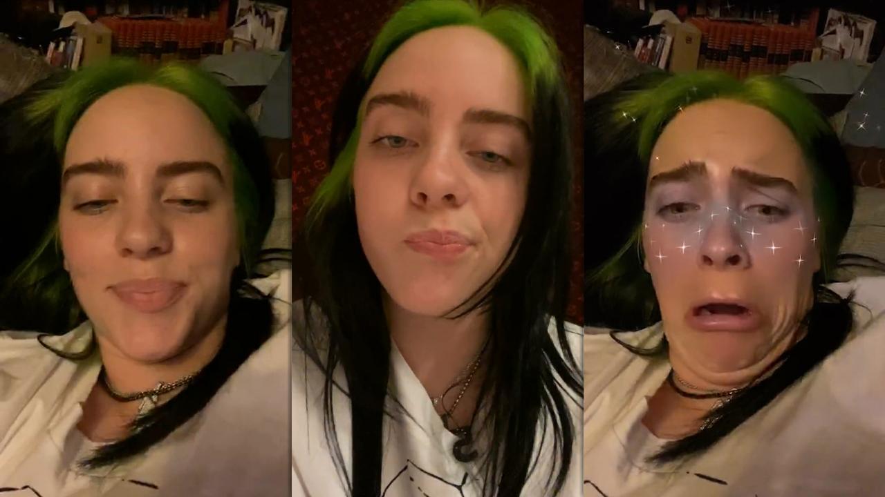 Billie Eilish's Instagram Live Stream from September 15th 2020.