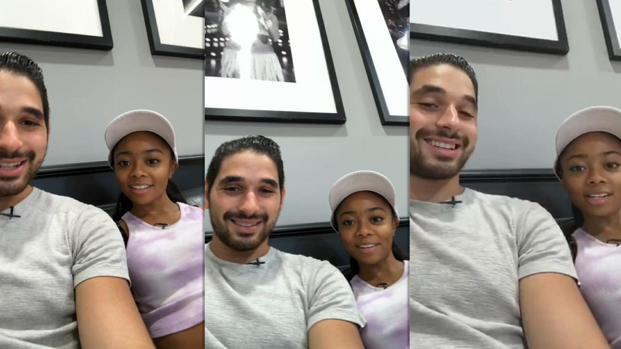 Skai Jackson's Instagram Live Stream with Alan Bersten from September 29th 2020.
