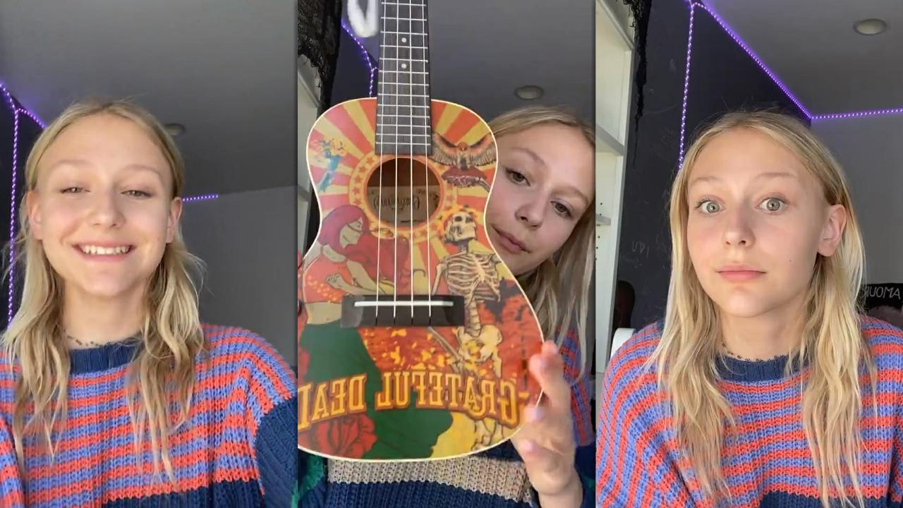 Alyvia Alyn Lind's Instagram Live Stream from October 15th 2020.