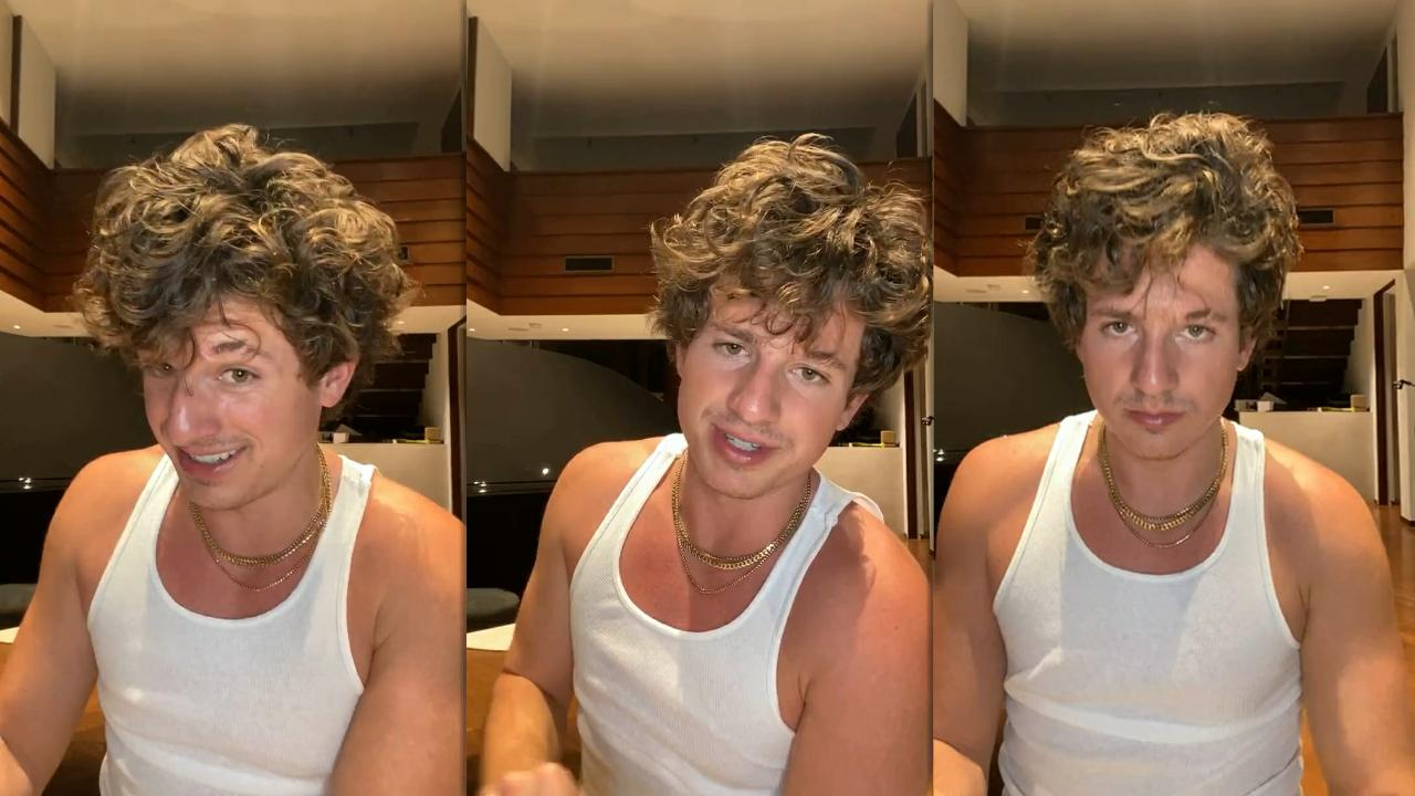 Charlie Puth's Instagram Live Stream from October 16th 2020.