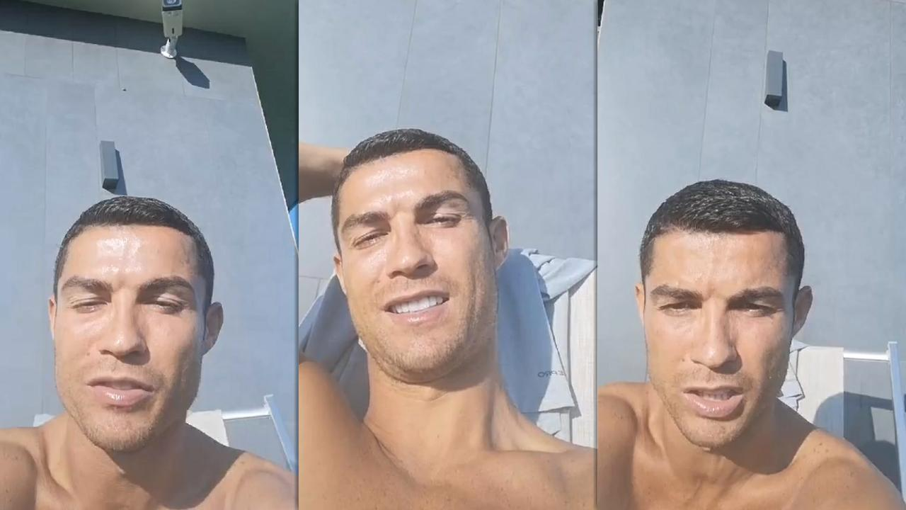 Cristiano Ronaldo's Instagram Live Stream from October 16th 2020.