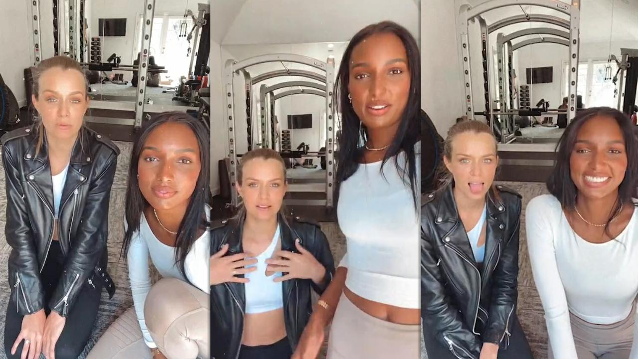 Jasmine Tookes's Instagram Live Stream with Josephine Skriver from October 16th 2020.