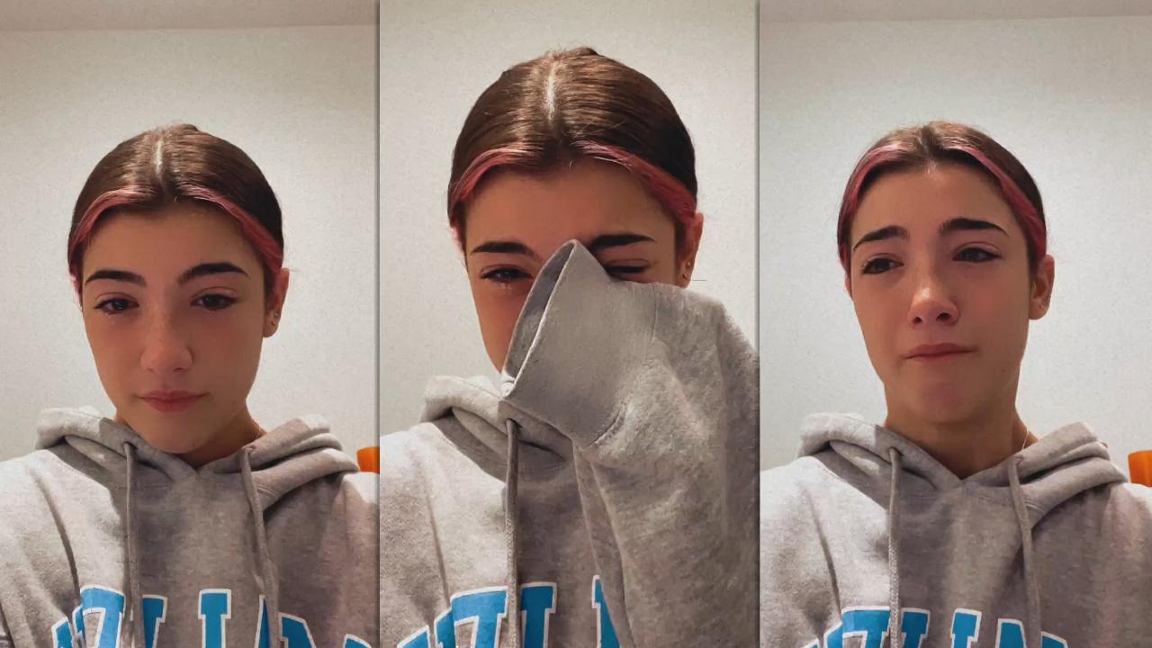Charli D'Amelio's Instagram Live Stream from November 19th 2020.