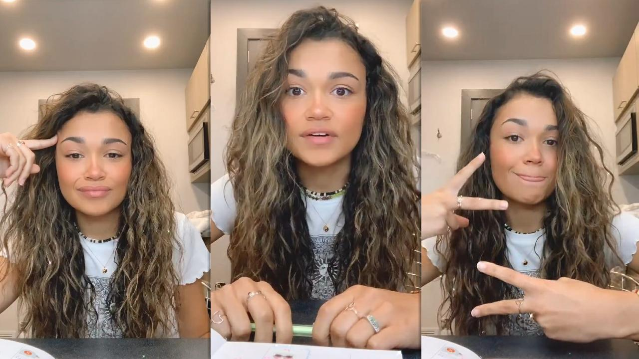 Madison Bailey's Instagram Live Stream from January 13th 2021.