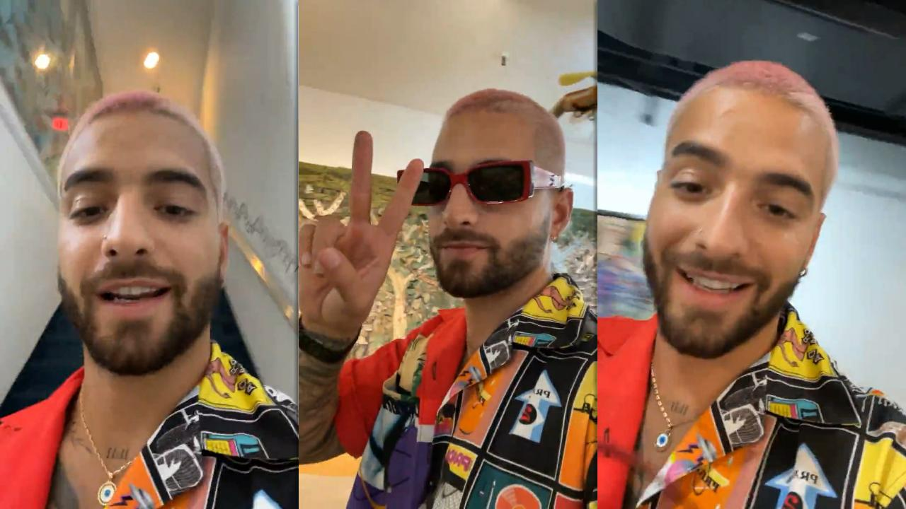 Maluma's Instagram Live Stream from February 22th 2021.