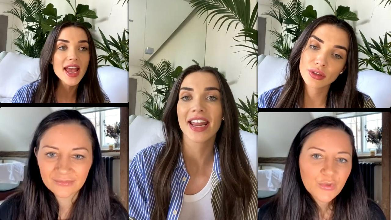 Amy Jackson's Instagram Live Stream from March 27th 2021.