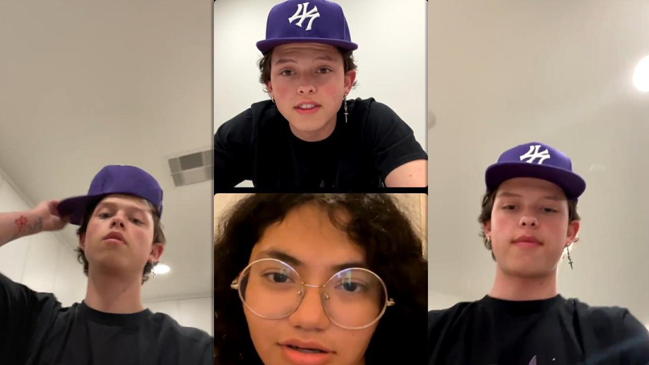 Jacob Sartorius Instagram Live Stream from April 7th 2021.
