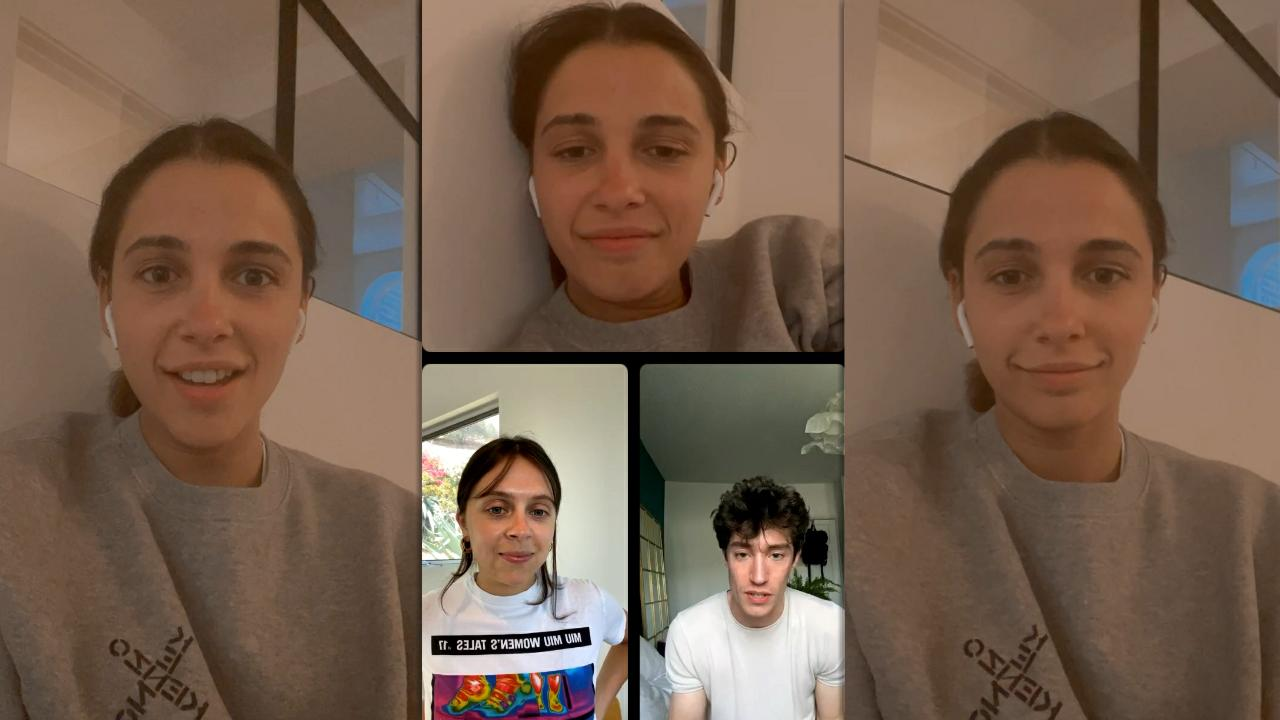 Naomi Scott's Instagram Live Stream from May 12th 2021.
