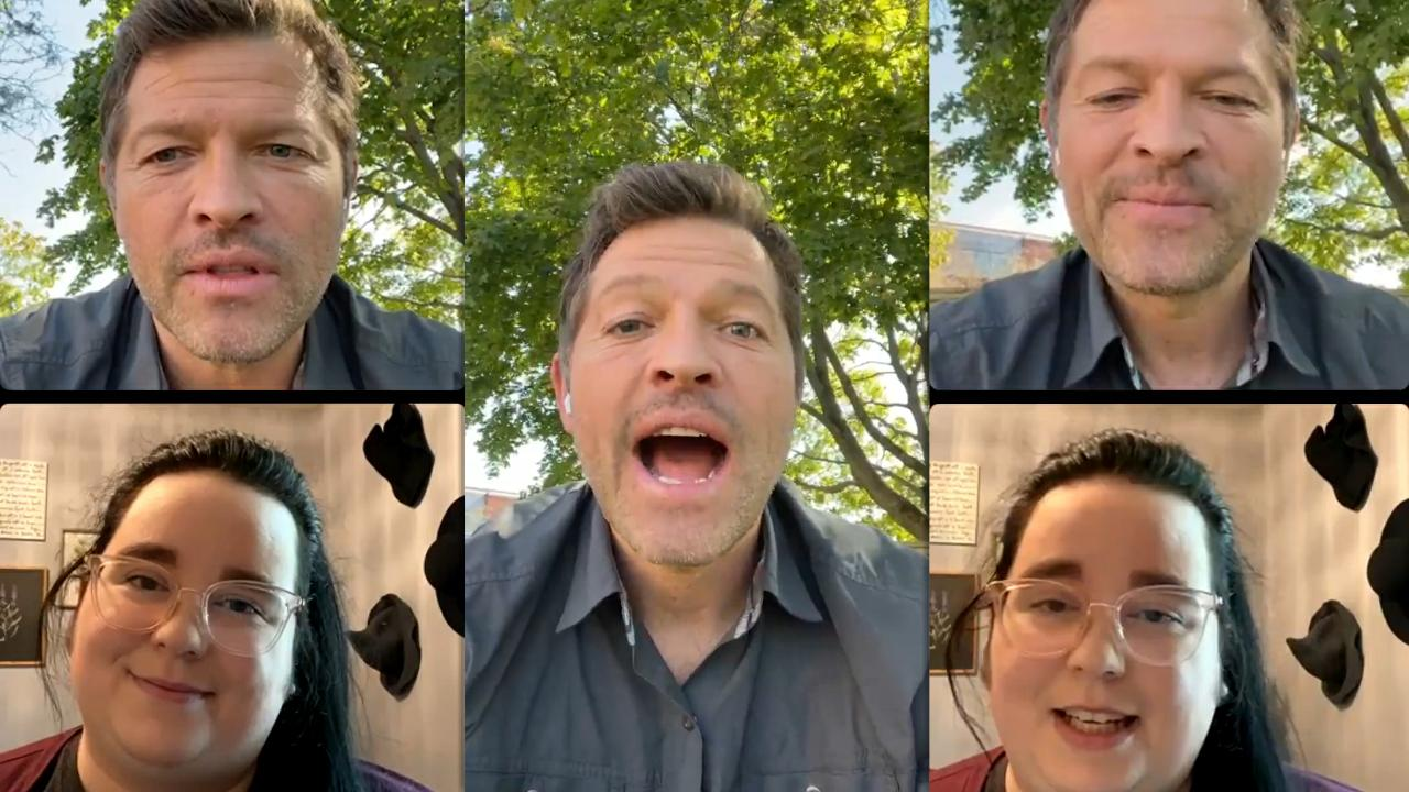 Misha Collins' Instagram Live Stream from October 8th 2021.