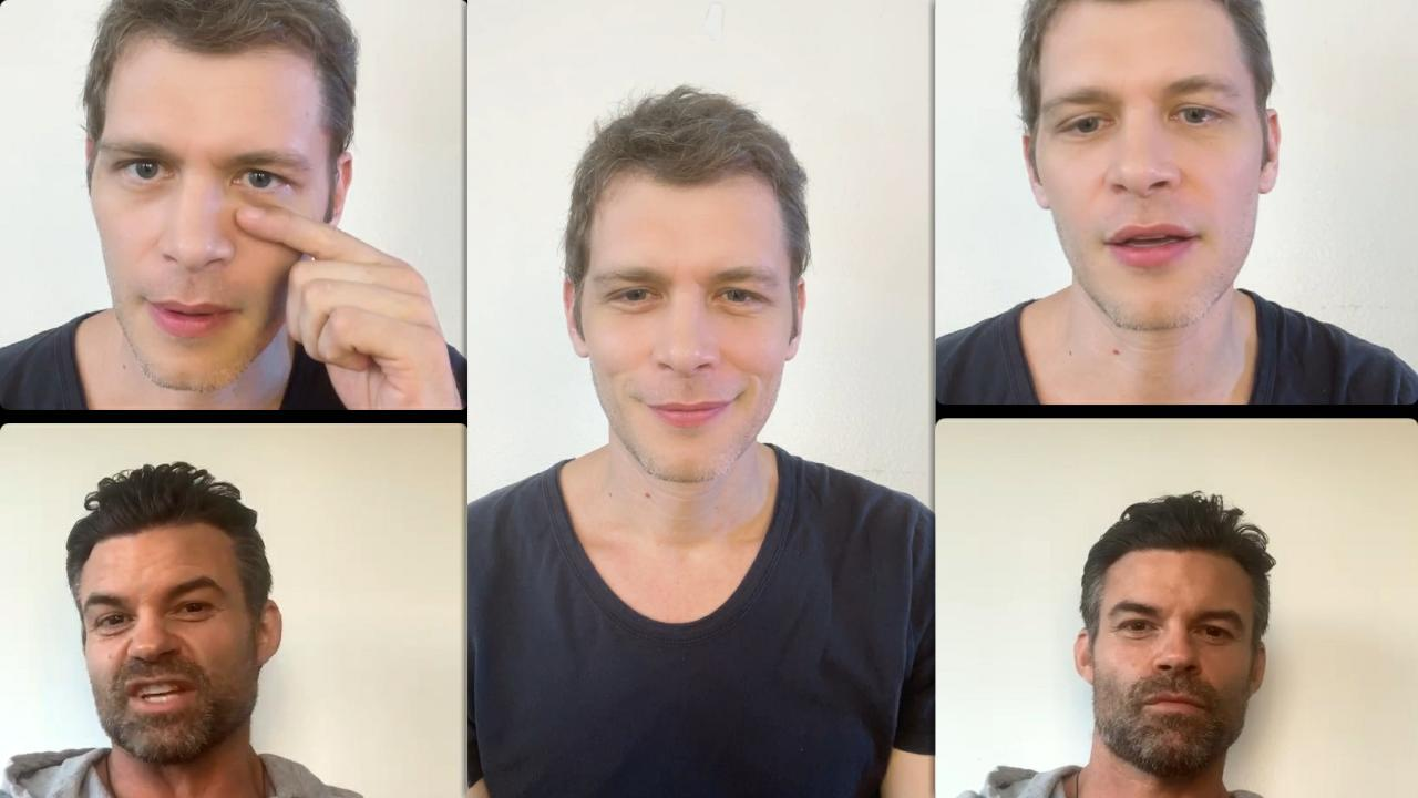Joseph Morgan's Instagram Live Stream with Daniel Gillies from October 8th 2021.